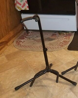 Musician's Gear Electric Acoustic and Bass Guitar Stand Black