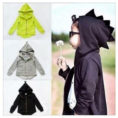 Baby Kids Boys Girl Toddlers Dinosaur Coat Hooded Hoodies Outwear Clothes New Y