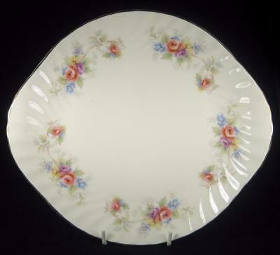 Royal Vale Floral Bouquet Bone China Fluted Cake Plate #D879
