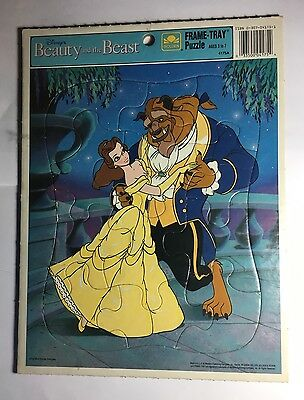 Disney Beauty And The Beast Golden Frame Tray Puzzle Belle And Beast