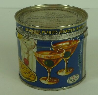 Vintage Planters Peanuts Old Metal Tin with Fun Graphics