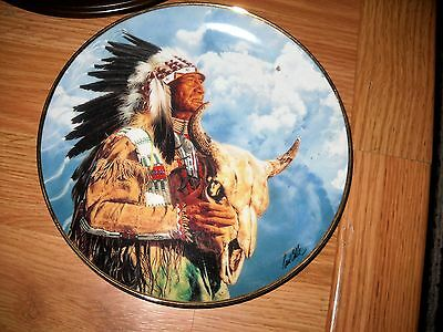 Collector Plate Hear Me Great Spirit Beautiful details
