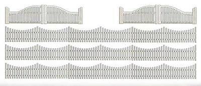 BUSCH HO scale ~ FILLIGREE GARDEN FENCES ~ model scenery #6009