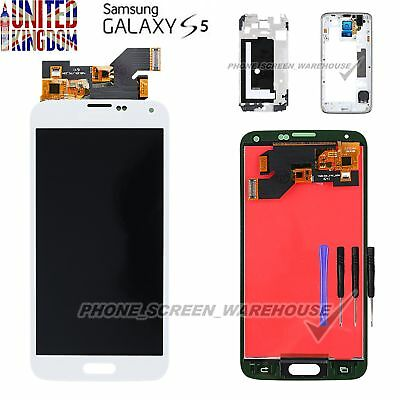 For Samsung Sm-G900F Galaxy S5 Screen Lcd Display Screen Assembly White