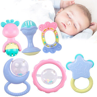 10PCS/Set New Jingle Ball Ring Training Grasping Ability Rattles Baby Toys 2017