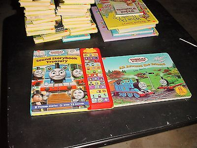 Two Thomas the Train Books, One that Makes Sounds