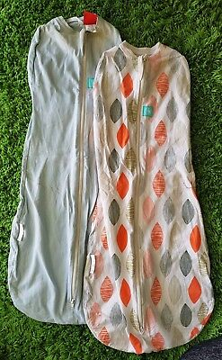 2x ergoCocoon ergoPouch Baby Swaddle Sleeping Bags 0.2 tog