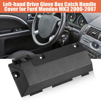 Left-hand Black Glove Box Catch Handle Cover For Ford Mondeo MK3 Lock Assy AP