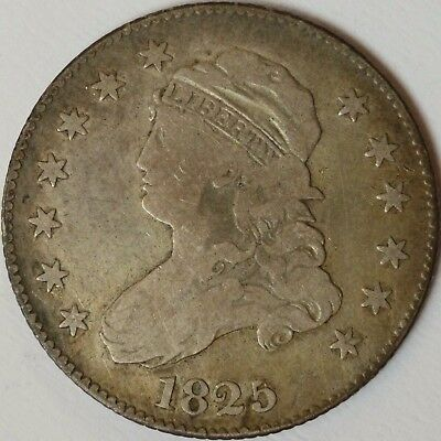 1825/4/(2) Capped Bust Quarter B-2, Very Good to Fine