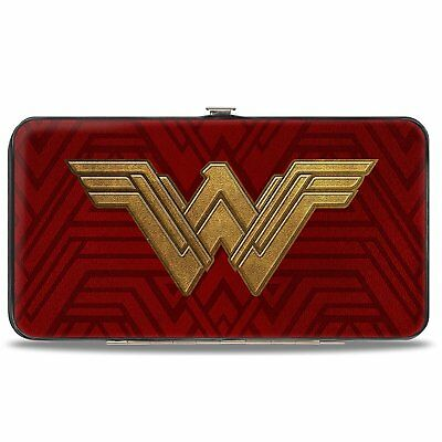 Hinged Wallet - Wonder Woman 2017 Icon + Tiara Star Reds/Golds