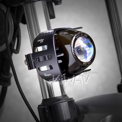 "Magazi 3"" round fog lamp black aluminum housing H3 12V 55W for Yamaha xPAIR"
