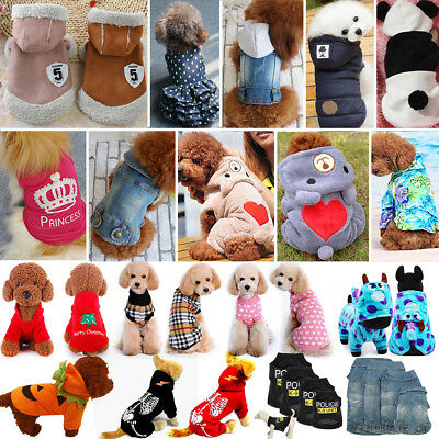 Various Pet Puppy Small Dog Cat Pet Clothes Dress Sweater Apparel Clothes Hoodie