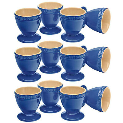 Chasseur La Cuisson 12p Boiled Egg Cup/Holder/Stand Set Blue Oven Safe Tableware