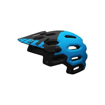 Bell Super 2 Cycling Helmet (Matte Black/Blue Aggression / Small Size)
