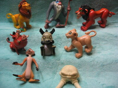 Disney's Lion King Burger KIng Fast Food Toys 7 All Different