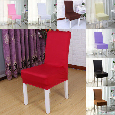 Chair Seat Cover Stretch Dining Chair Covers Protect Wedding Decor Elastic HOT