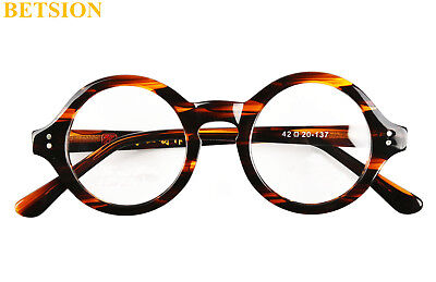 Vintage Round HANDMADE Eyeglasses Frames Tortoise men women Glasses Rx able 292