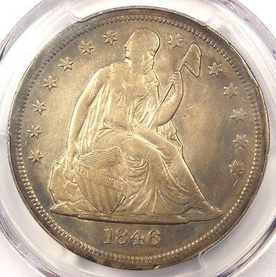 1846-O Seated Liberty Silver Dollar $1 Mint Error Rotated Dies - PCGS XF (EF)!