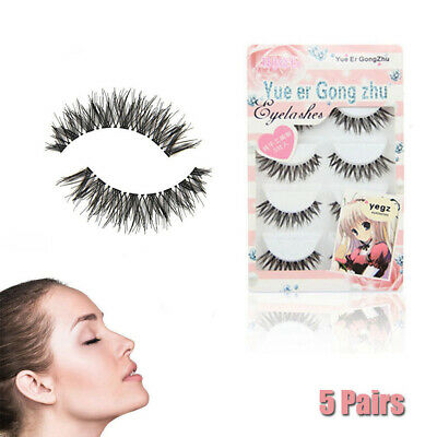 5 Pairs False Eyelashes Demi Wispies Soft Natural Fake Long Thick  Lashes