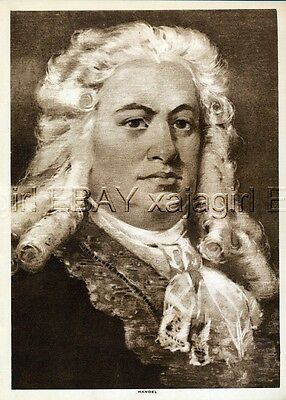 MUSIC George Frederick Handel Lovely 1913 Antique Print