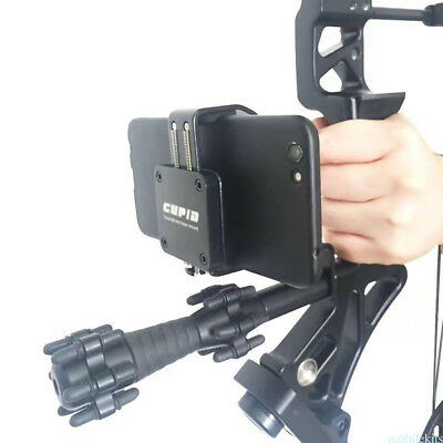 Bow Mounted Video SmartPhone Holder Bracket Clamp For Compound Recurve Bow Mount