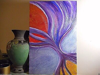 """energy"" Painting oil wall Abstract Expressionism no frame signed MDmi original"