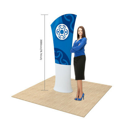 Allure Fabric Tension Banner Stands-Oblique Angle Double Sided with Graphic