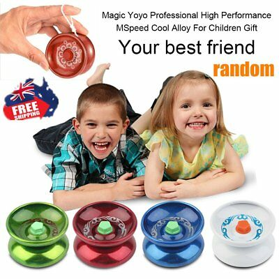 Aluminum Alloy Professional YOYO Ball Bearing String Trick Toys Kids Gift GT