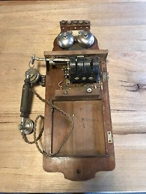 Antique Wall Phone. Restore Or Parts