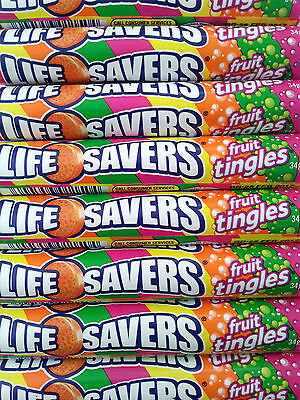 Life Savers Fruit Tingles Lollies - 10 Rolls Lollies new