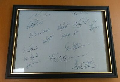 Glamorgan Cricket Team Autographs Signatures Wales England Sports