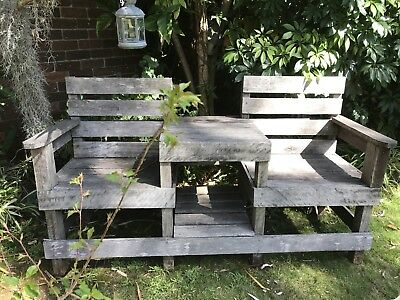 Outdoor Timber Bench Seat Table - Jack & Jill Outdoor Bench Seat