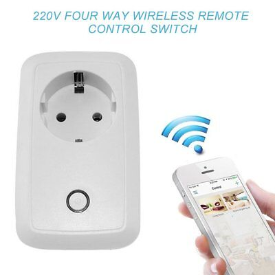 Mini WiFi Smart Home inalámbrico control remoto enchufe de corriente EU Plug
