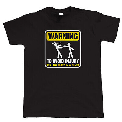 Warning To Avoid Injury Mens Funny Electrician T Shirt - Gift for Him Dad