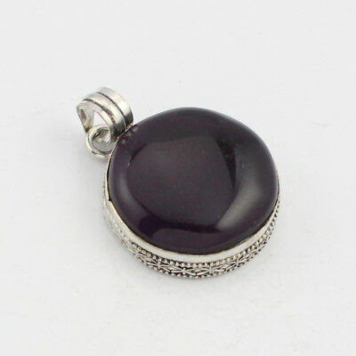 925 Sterling Silver Overlay Black Onyx Pendant  Handmade  Fashion Jewelry