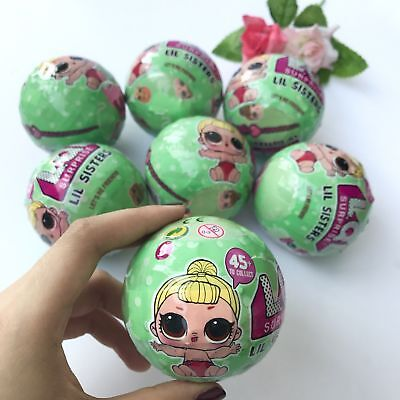 6Pcs LOL SURPRISE DOLL Lil Sisters Ball 7 Layers Series 2 Surprise Kids Xmas Toy