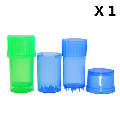 """1 X 1.58""""/40MM 3 Parts Spice Mill Plastic Herb Grinder Can Tobacco Storage Case"""