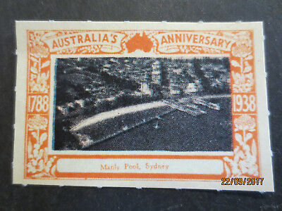No- 9 -- 1938 -- AUSTRALIA'S ANNIVERSARY -- CINDERELLA  SINGLE  ISSUE'S
