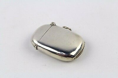 Antique 1911 SOLID SILVER CHESTER Vesta Match Case - 18g