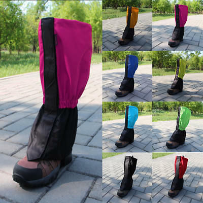 Unisex Waterproof Hiking Climbing Ski Gaiters Leg Cover Boot Shoes Legging Wrap