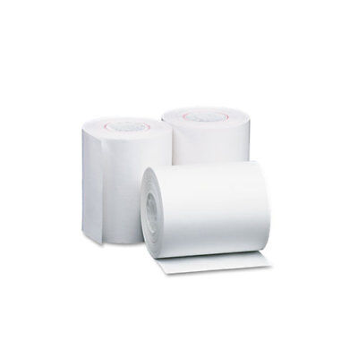 "Single Ply Thermal Cash Register/POS Rolls, 4 3/8"" x 127 ft., White, 50/CT"