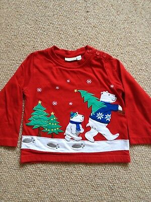 Boys Or Girls Jojo Maman Bebe Christmas Top 18-24 Months Excellent condition.