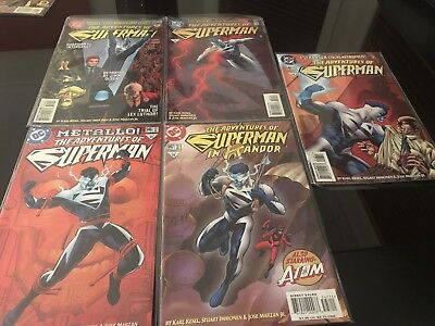 DC Comics 5x  The Adventures Of Superman  Bundle #546,547, 548,549,550