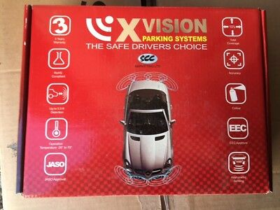 XVISION PARKING SENSORS Front System 4 Micro Round Angled Black Sensors
