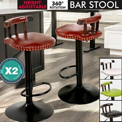 2x Retro Vintage Industrial Bar Stool Steel Home Kitchen Cafe Swivel Barstool