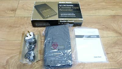 Vintage Radio Shack CTR-102 Portable Cassette Recorder ** NEW AND BOXED **