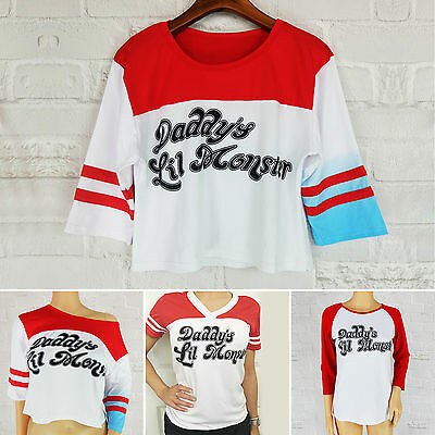 Harley Quinn T-shirt Suicide Squad Daddy's Lil Monster Inspired Top Blouse Joker