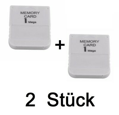 2x 1MB Memory Card PS1 PlayStation 1 Speicherkarte  PS One PSX 1 MB Play Station