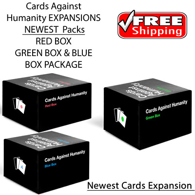 Cards Against Humanity - Green or Red or Blue Box or All Expansion Pack Sets