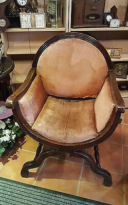 Vintage Mahogany 'Priests' Chair for recovering
